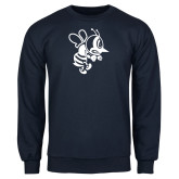 Navy Fleece Crew-Fighting Bee