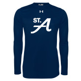 Under Armour Navy Long Sleeve Tech Tee-St A