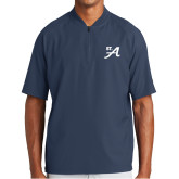 New Era Navy Cage Short Sleeve 1/4 Zip-St A
