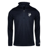 Russell Navy Heather 1/4 Zip-Fighting Bee