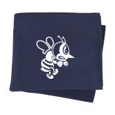 Navy Sweatshirt Blanket-Fighting Bee