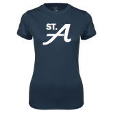 Ladies Syntrel Performance Navy Tee-St A