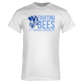 White T Shirt-Fighting Bees