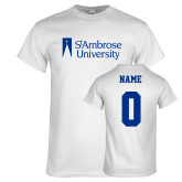 White T Shirt-Primary Mark, Custom Tee w/ Name and #