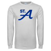 White Long Sleeve T Shirt-St A
