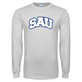 White Long Sleeve T Shirt-SAU