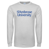 White Long Sleeve T Shirt-St Ambrose University
