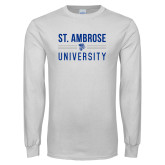 White Long Sleeve T Shirt-St Ambrose