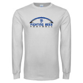 White Long Sleeve T Shirt-Fighting Bees Football