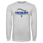 White Long Sleeve T Shirt-Fighting Bees Ball Threads