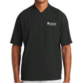 New Era Black Cage Short Sleeve 1/4 Zip-Primary Mark