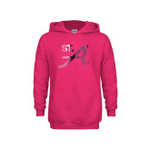 Youth Raspberry Fleece Hoodie-St A  Foil