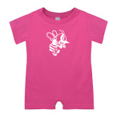 Bubble Gum Pink Infant Romper-Fighting Bee