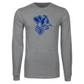 Grey Long Sleeve T Shirt-Fighting Bee