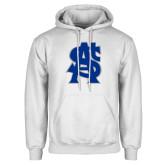 White Fleece Hoodie-St A Baseball Logo