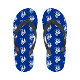 Ladies Full Color Flip Flops-Fighting Bee