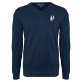 Classic Mens V Neck Navy Sweater-Fighting Bee