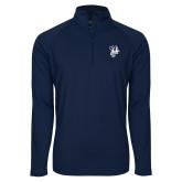 Sport Wick Stretch Navy 1/2 Zip Pullover-Fighting Bee