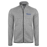 Grey Heather Fleece Jacket-Primary Mark