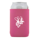 Neoprene Hot Pink Can Holder-Fighting Bee