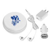 3 in 1 White Audio Travel Kit-Fighting Bee