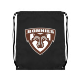 Black Drawstring Backpack-Bonnies Shield