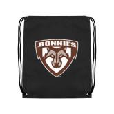 Black Drawstring Backpack-Bonnies Shield