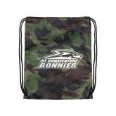 Camo Drawstring Backpack-Official Logo