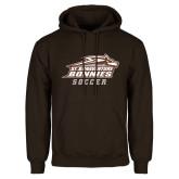Brown Fleece Hoodie-Soccer