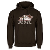 Brown Fleece Hoodie-Womens Basketball