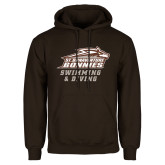 Brown Fleece Hoodie-Swimming & Diving