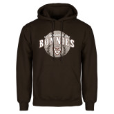 Brown Fleece Hoodie-Bonnies Baseball Arched w/ Ball
