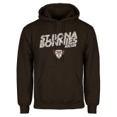 Brown Fleece Hoodie-Bonnies Soccer Texture