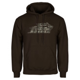 Brown Fleece Hoodie-Official Camo Logo