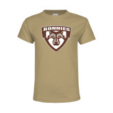 Youth Khaki Gold T Shirt-Bonnies Shield