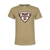 Youth Khaki Gold T Shirt-Bonnies Shield