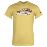 Champion Vegas Gold T Shirt-Official Logo Distressed