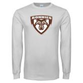 White Long Sleeve T Shirt-Bonnies Shield