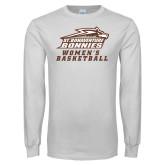 White Long Sleeve T Shirt-Womens Basketball
