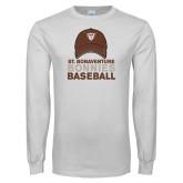 White Long Sleeve T Shirt-Bonnies Baseball w/ Hat