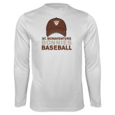 Performance White Longsleeve Shirt-Bonnies Baseball w/ Hat