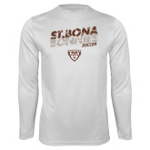Performance White Longsleeve Shirt-Bonnies Soccer Texture