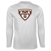 Performance White Longsleeve Shirt-Bonnies Shield