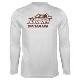 Performance White Longsleeve Shirt-Swimming