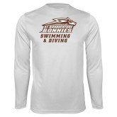 Performance White Longsleeve Shirt-Swimming & Diving