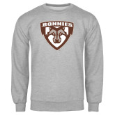 Grey Fleece Crew-Bonnies Shield