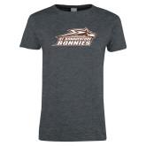 Ladies Dark Heather T Shirt-Official Logo