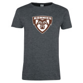Ladies Dark Heather T Shirt-Bonnies Shield