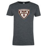 Ladies Dark Heather T Shirt-Bonnies Shield