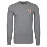 Grey Long Sleeve T Shirt-Bonnies Shield